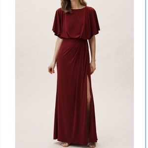 BHLDN Lena dress in Bordeaux - size 10